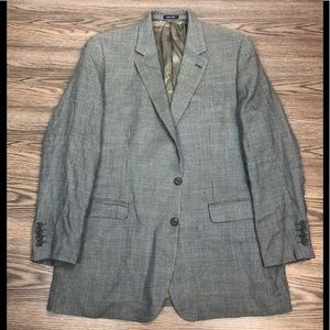 Ralph Lauren Blue, Grey & Tan Check Blazer 46L
